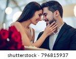 beautiful loving couple is... | Shutterstock . vector #796815937