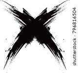 vector grunge logo design... | Shutterstock .eps vector #796816504
