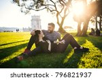 loving  carefree couple... | Shutterstock . vector #796821937