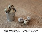 Brown Spotted Quail Eggs In Th...