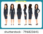 set of businesswoman character... | Shutterstock .eps vector #796823641