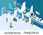 isometric 3d illustration... | Shutterstock . vector #796823914
