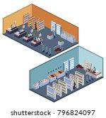 isometric 3d illustration set... | Shutterstock . vector #796824097