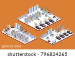 isometric 3d illustration set... | Shutterstock . vector #796824265
