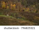 old houses in rural side of... | Shutterstock . vector #796825321