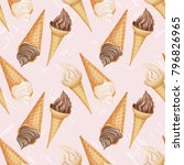soft pattern with realistic... | Shutterstock .eps vector #796826965