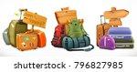 travel. bag  backpack  suitcase ...   Shutterstock .eps vector #796827985