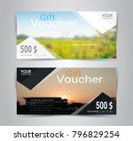 gift certificates and vouchers  ... | Shutterstock .eps vector #796829254