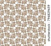 vector floral art nouveau... | Shutterstock .eps vector #796829659