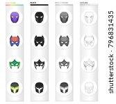 mask  cinematography  cartoons... | Shutterstock .eps vector #796831435