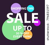 big sale background   Shutterstock .eps vector #796831597