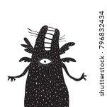 fun scary monster beast. crazy... | Shutterstock .eps vector #796832434