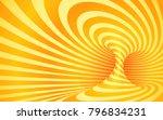 orange color striped swirl  ... | Shutterstock .eps vector #796834231