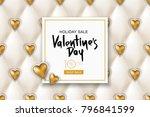 valentines day sale banner.... | Shutterstock .eps vector #796841599