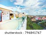 young adult man enjoying the... | Shutterstock . vector #796841767