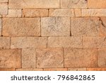 Red Laterite Stone Wall Textur...