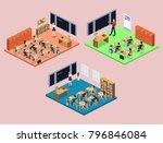 isometric 3d illustration... | Shutterstock . vector #796846084