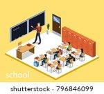 isometric 3d illustration... | Shutterstock . vector #796846099