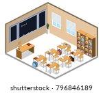 isometric 3d illustration... | Shutterstock . vector #796846189