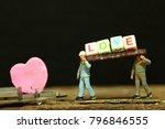 construction worker figure...   Shutterstock . vector #796846555