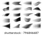 speed line set. comics motion... | Shutterstock .eps vector #796846687