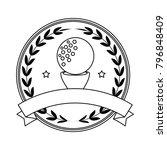 golf ball emblem elegant | Shutterstock .eps vector #796848409