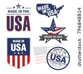 vector set of made in the usa... | Shutterstock .eps vector #796848814