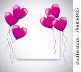 love balloons shaped heart... | Shutterstock .eps vector #796850437