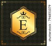 calligraphic design element... | Shutterstock .eps vector #796851079
