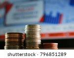 coin on the stock market... | Shutterstock . vector #796851289