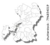 kumamoto prefecture map white... | Shutterstock .eps vector #796854019