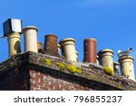 the jolly chimneys of jersey ... | Shutterstock . vector #796855237