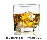 glass of whiskey on the rocks ... | Shutterstock . vector #79685716