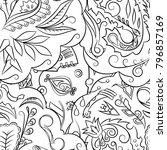 seamless mehndi vector pattern. ... | Shutterstock .eps vector #796857169