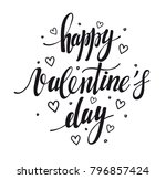 happy valentine's day. hand... | Shutterstock .eps vector #796857424
