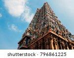 meenakshi amman temple in...   Shutterstock . vector #796861225