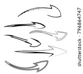 collection of arrow icon logo... | Shutterstock .eps vector #796864747