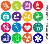 set of medical and health icons ... | Shutterstock .eps vector #796866061