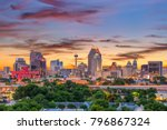 Small photo of San Antonio, Texas, USA downtown skyline.