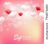 happy valentines day party... | Shutterstock .eps vector #796873684