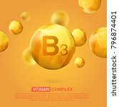 vitamin b3 gold icon. retinol... | Shutterstock .eps vector #796874401