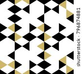 seamless triangle memphis...   Shutterstock .eps vector #796874881