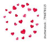 heart border for valentines day ... | Shutterstock .eps vector #796878115
