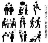 lover couple love proposal... | Shutterstock . vector #79687867