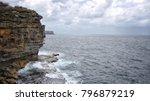 coastal view  ocean  deep blue... | Shutterstock . vector #796879219