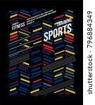 t shirt design sports training... | Shutterstock .eps vector #796884349