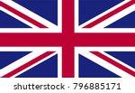 united kingdom national flag   Shutterstock .eps vector #796885171