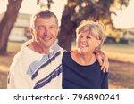 portrait of american senior... | Shutterstock . vector #796890241