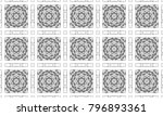 black and white mosaic seamless ... | Shutterstock . vector #796893361