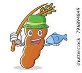 fishing tamarind mascot cartoon ... | Shutterstock .eps vector #796894849